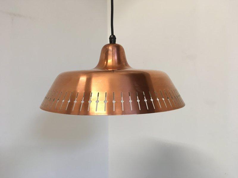 Copper Perforated Pendant