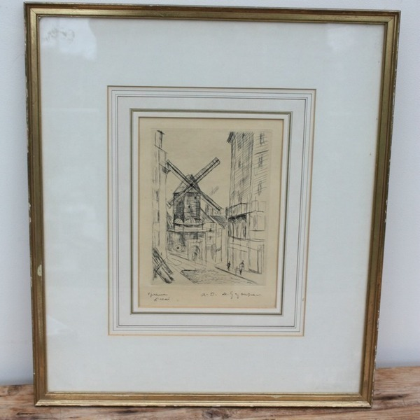 Original Etching By Andre Albert Marie Dunoyer De Segonzac