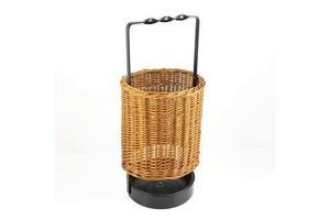 Thumb wicker umbrella stand in mid century modern style germany of the 1960s 0