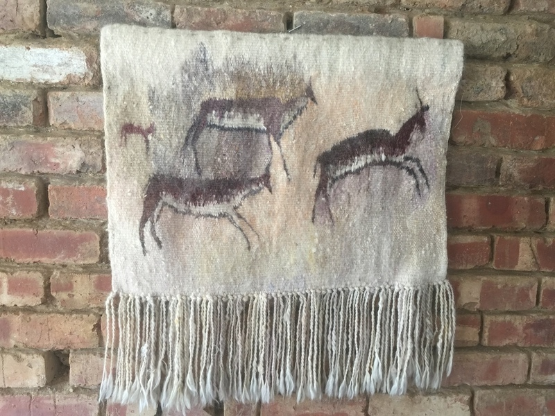Retro Vintage Mid Century Hand Woven Wool Wall Hanging Tapestry Fibre Art