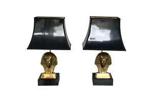 Thumb hollywood regency pair of pharaoh table lamps 1960s 0