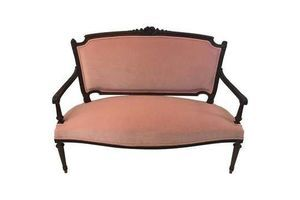 Thumb french belle epoque settee in louis xvi style rose pink velvet upholstery 1880 0