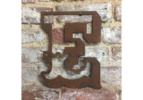 L Rusted Lettering Letters Sign Metal Shop Front Home 12inch CARNIVAL FAIRGROUND