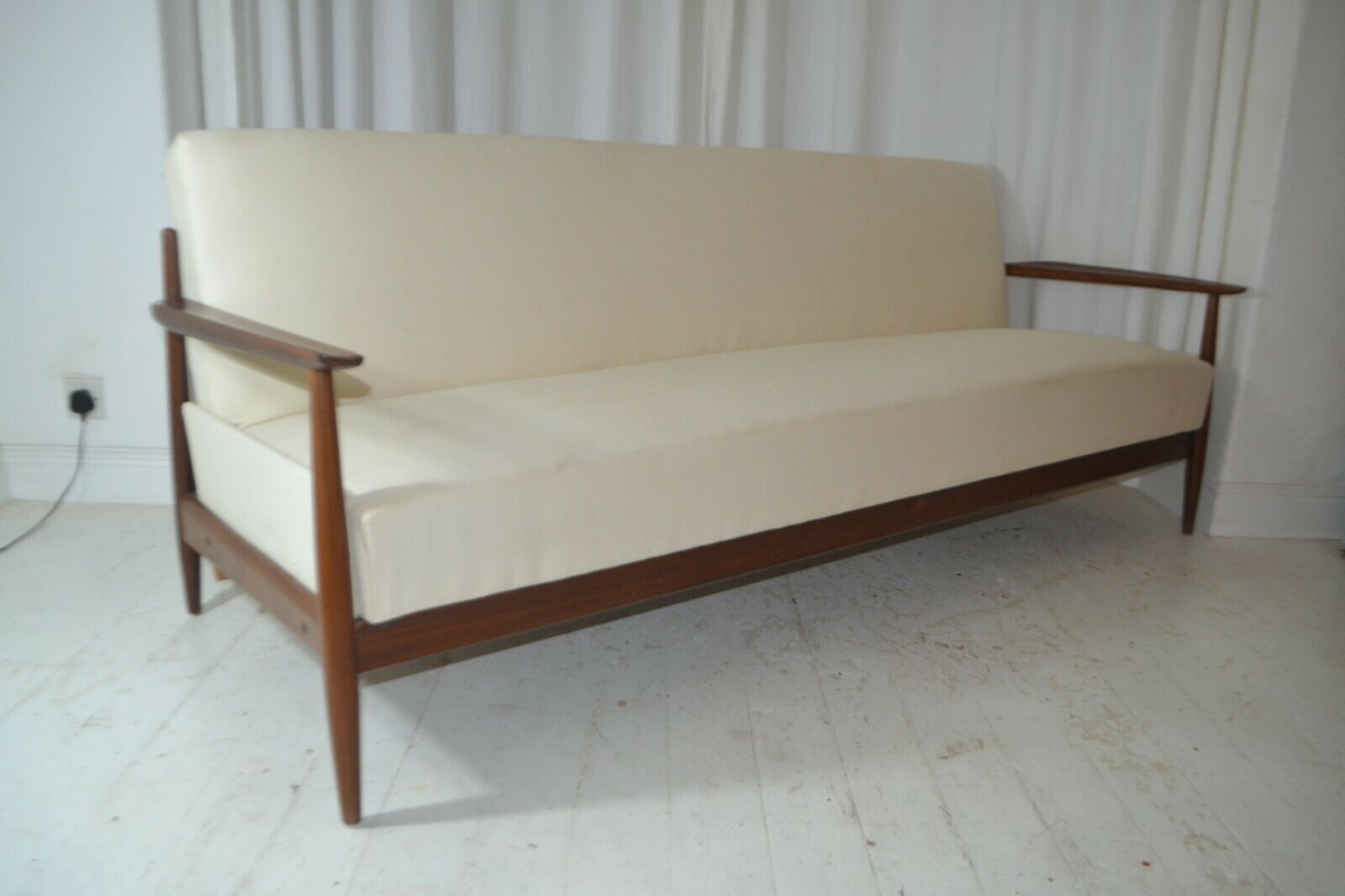 Vintage Danish Teak Sofa Bed Settee