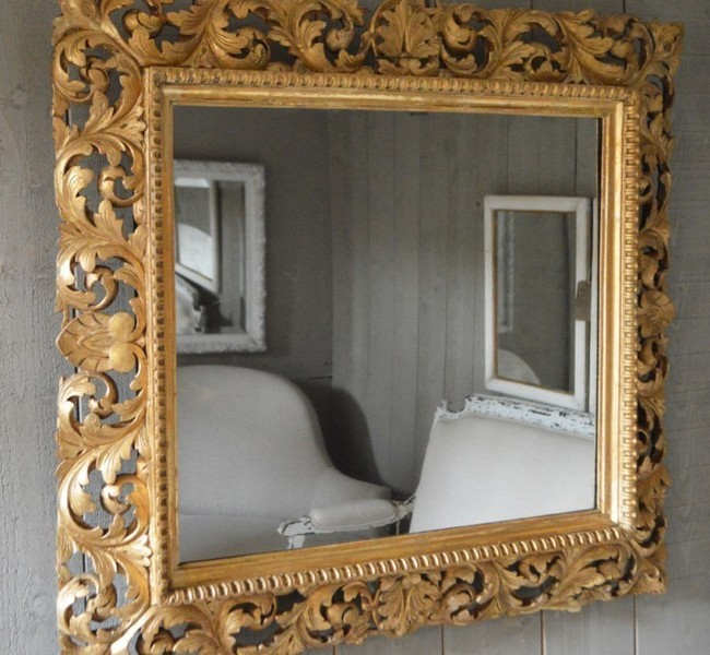 English Carved Mirror