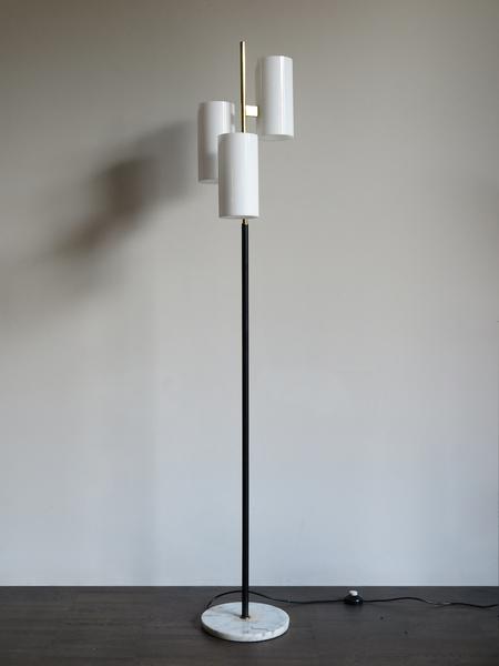 Italian Marble Brass Floor Lamp, 1960s