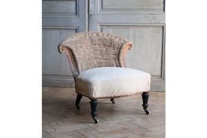 Thumb vintage antique french napoleon iii chauffeuse slipper chair unknown france 0