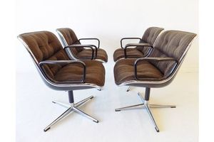 Thumb charles pollock chairs for knoll international set of 4 0