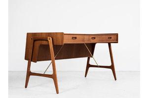 Thumb midcentury danish desk in teak by arne wahl iversen 1960s 0
