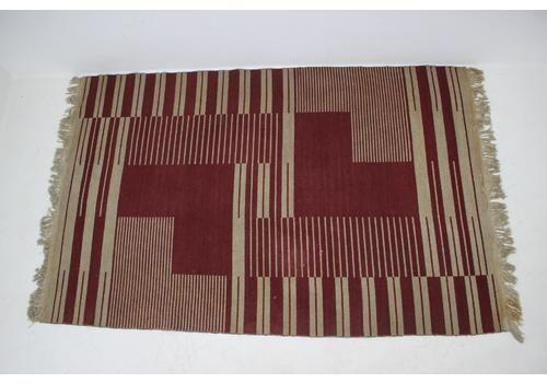 Original Rare Modernist Abstract Geometric Carpet By Antonín Kybal   1948