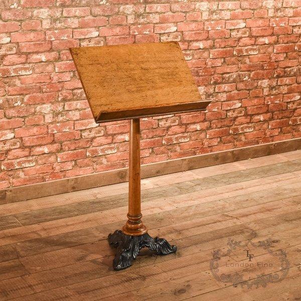 Victorian Oak & Iron Lectern, C.1850