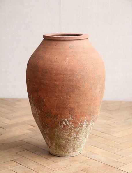 Antique Large Turkish Terracotta Garden Pot 59cm