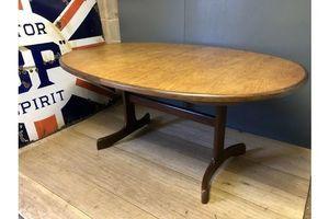 Thumb g plan oval teak extending dining table retro mid century unknown g plan 0