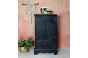 Thumb boho cabinet tallboy vintage furniture printer storage hand painted 0