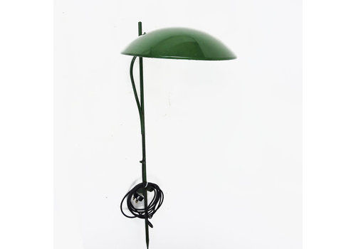 Green Dome Shaped Outdoor Lawn Light, 1950s