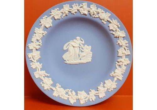 Vintage Wedgwood Jasperware Trinket Tray Pale Blue