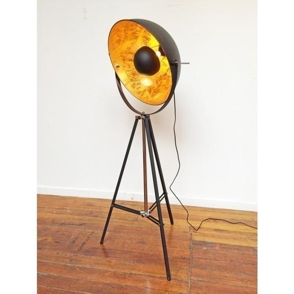 Tripod Spotlight Theatre Lamp (Gold)
