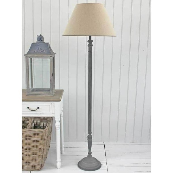 Antique Black Floor Lamp And Shade