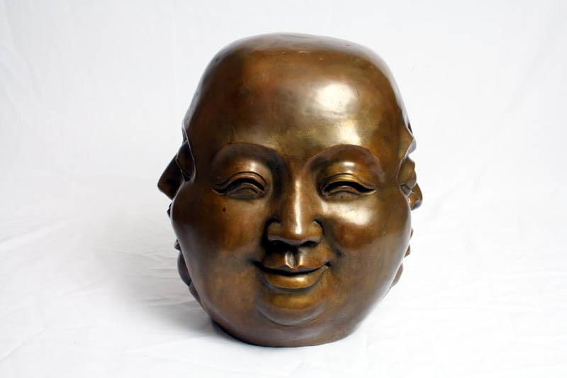 Bronze Four Face Buddha Brahma Hindu Sculpture