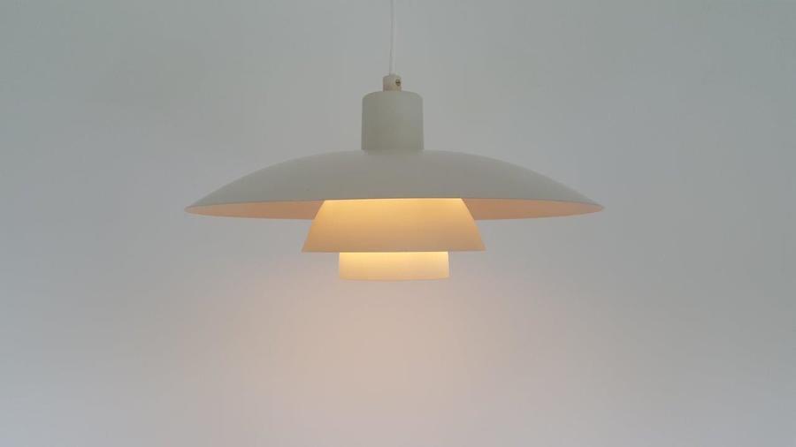 Poul Henningsen Ph4 Pendant Light In White For Louis Poulsen Denmark