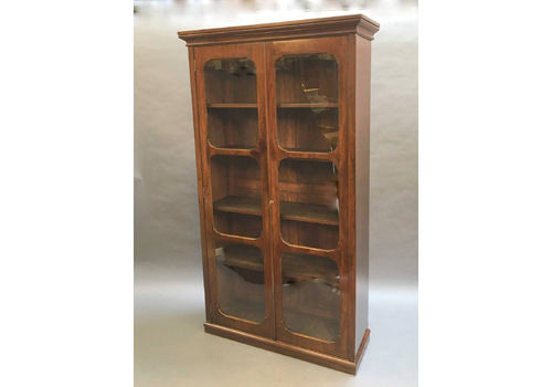 C19th Tall Glazed Bookcase