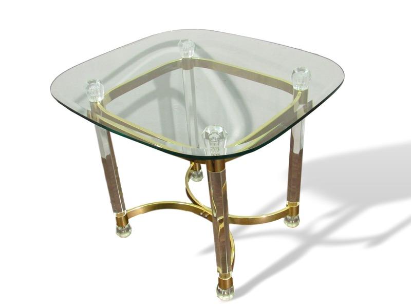 Vintage Glass Side Table