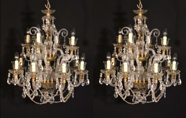 Vintage Venetian 12 Light Chandeliers photo 1