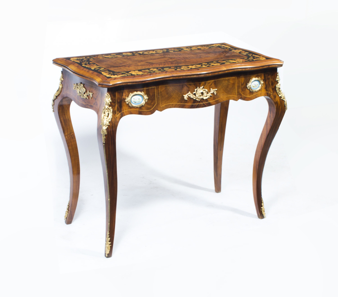 French Card Table With Porcelain Plaques photo 1
