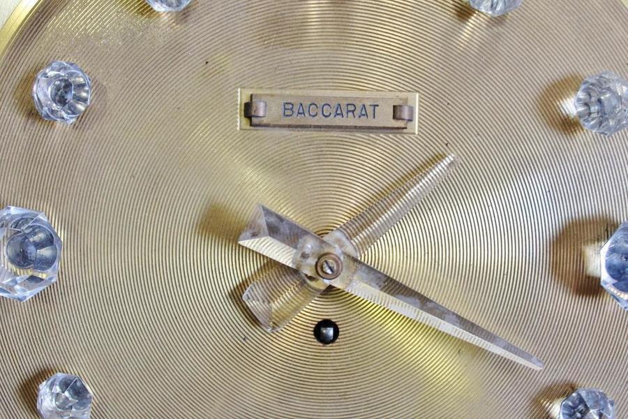 Rare Original 1st Edition Baccarat Sun Clock By Georges Chevalier Vinterior