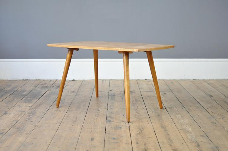 Beech Coffee Table With Flared Legs