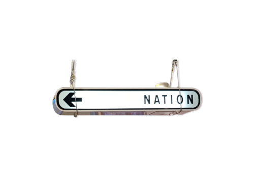 Former Illuminated Sign Of The City Of Paris   Nation   Original   Circa 1970