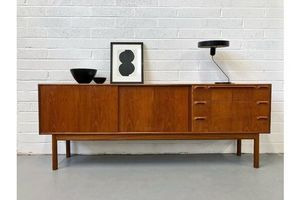 Vintage 1960s Mcintosh Teak Sideboard. Retro Danish Mid Century G Plan photo