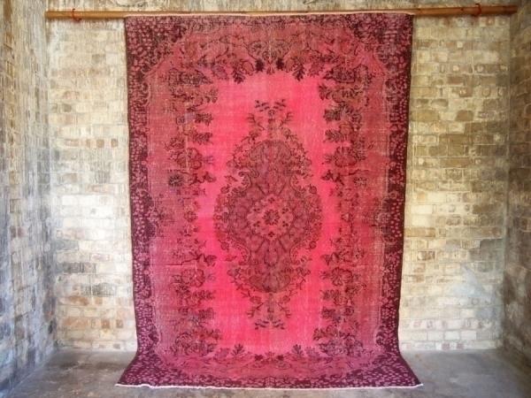 Dark Pink Vintage Over Dyed Turkish Rug photo 1