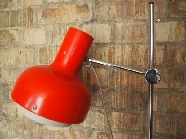 Red Vintage Retro Floor Lamp photo 1