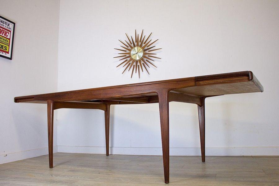 Mid Century Retro Danish Large Teak Extending Dining Table