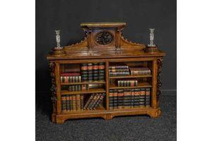 Thumb mid victorian burr walnut bookcase 0