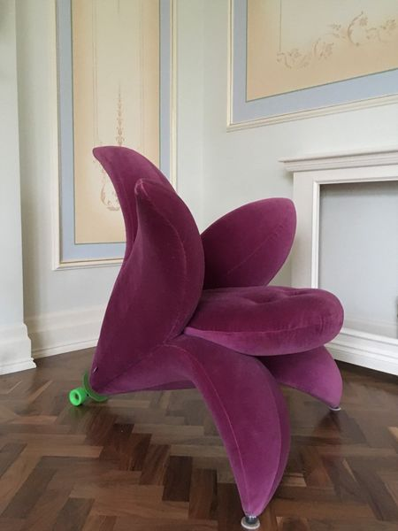 Genuine Unique Violet Flower Armchair Getsuen Designed By Masanori Umeda By Edra