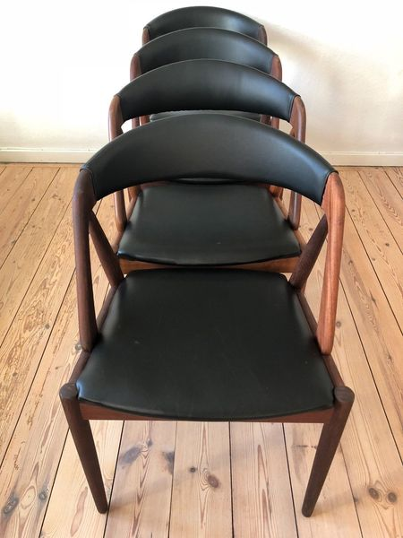 Kai Kristiansen Mid Century Teak Dining Chairs.