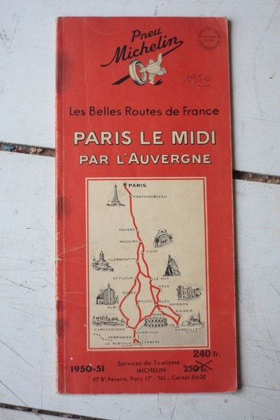 Vintage Michelin Map Of The Route To The South