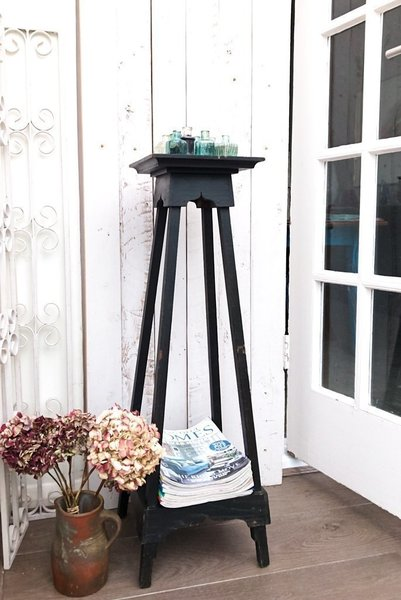 Tall Vintage Painted Plant Stand Or Hallway Table