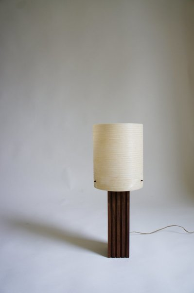 Danish Lamp With Fibreglass Shade