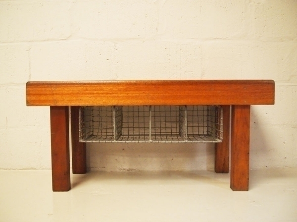 Solid Teak School Bench With Pigeon Hole Shoe Storage