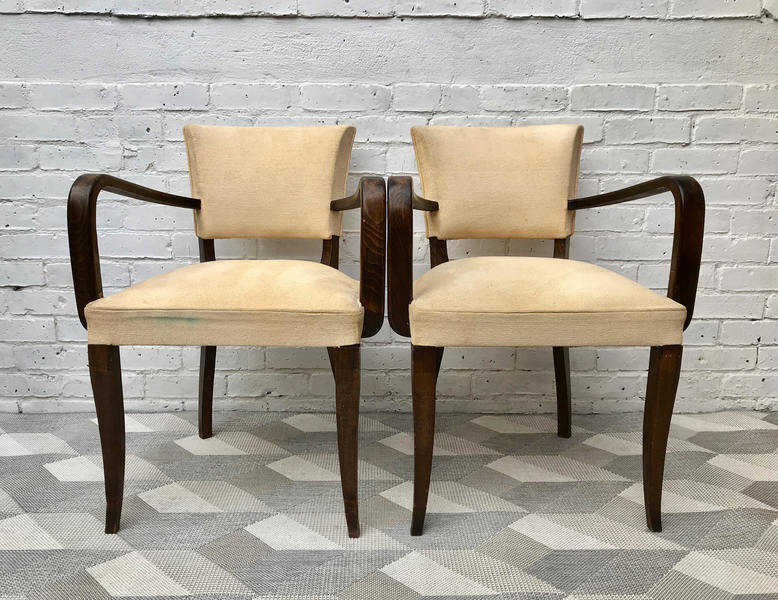 Pair Of Bridge Side Chairs   French #479
