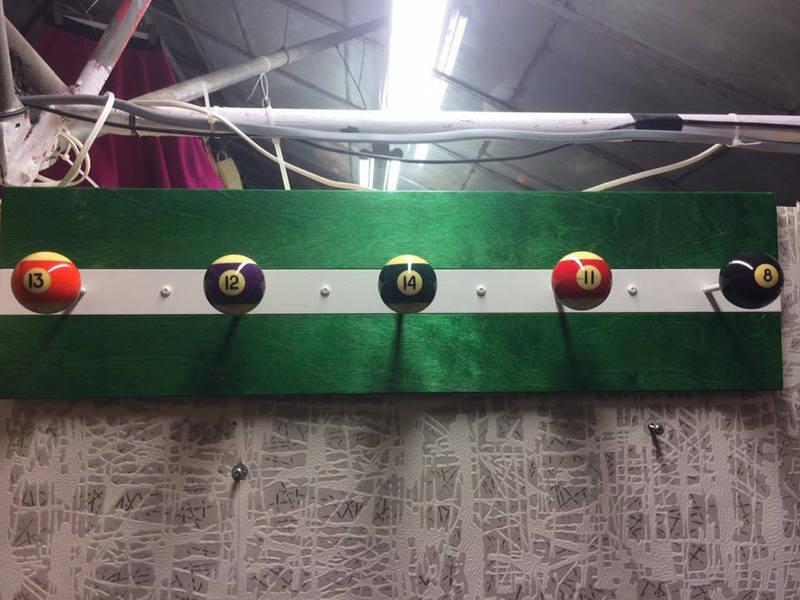 Novelty Pool Ball Coat Hanger / Hook Pegs