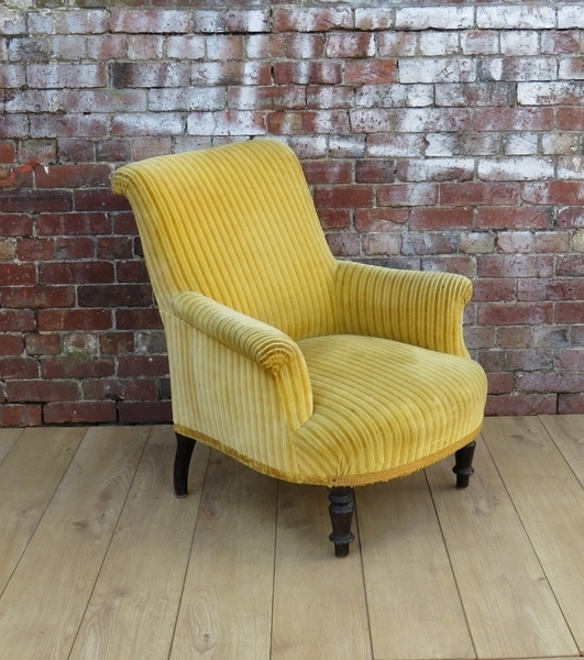19c French Armchair For Re Upholstery