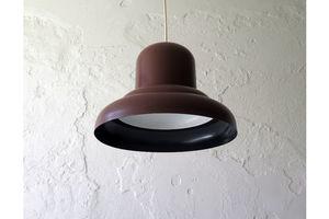 Thumb brown metal pendant lamp 1970s 0