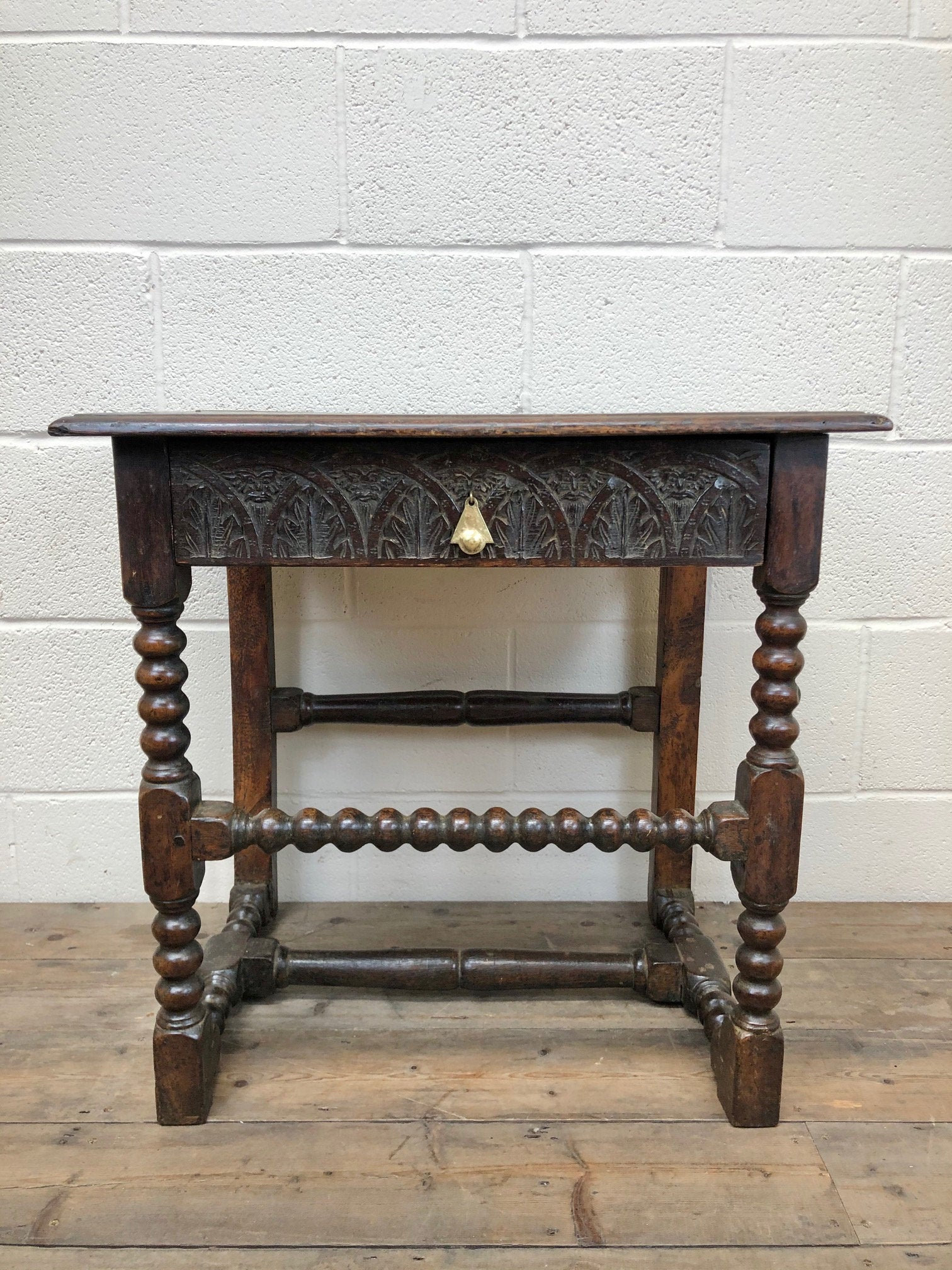 Antiques Antique Furniture Antique Table Oak Table Antique Side Table Oak Furniture Antique Small Table 18th Century Hallway Antique Vinterior