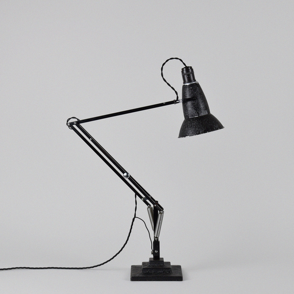 Early Anglepoise Desk Lamp By Herbert Terry & Sons With Three Step / 3 Tier Base.