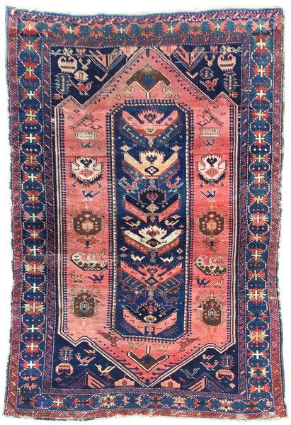 Antique Caucasian Rug 2.15m X 1.45m