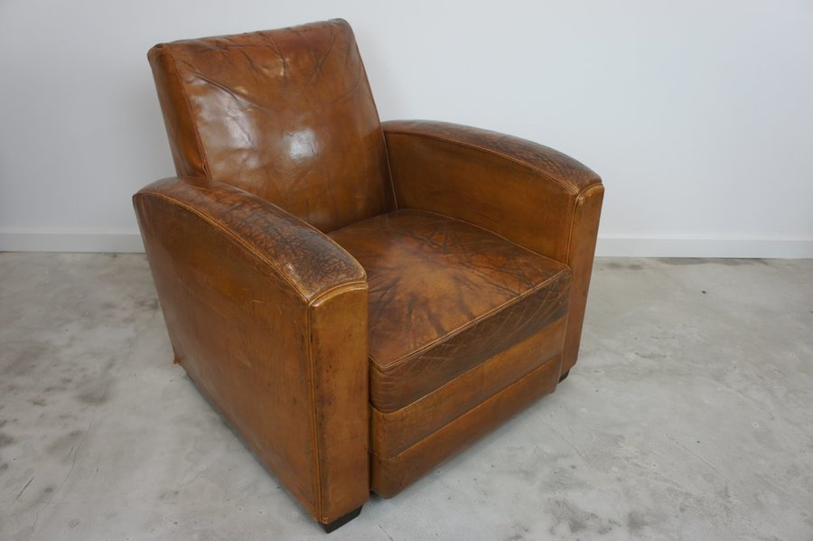19th Century Leather Club Chair
